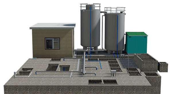 Hệ thống xử lý nước thải Nihophawa phòng thí nghiệm