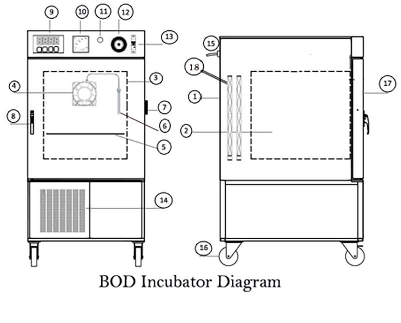 Cấu tạo và nguyên lý làm việc của tủ ấm BOD