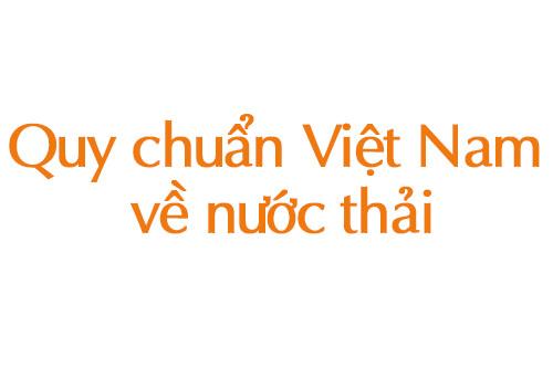 Quy chuẩn Việt nam về nước thải
