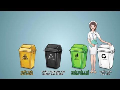 hướng dẫn phân loại chất thải y tế rắn, lỏng